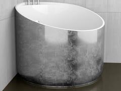 Glass Design, MINI SILVER Vasca da bagno angolare foglia argento