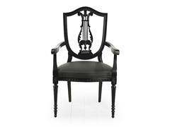 Sedia con braccioli con schienale aperto CITRUS | Sedia con braccioli - Citrus