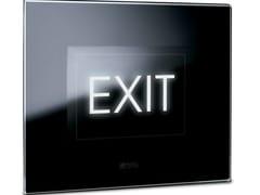Luce di emergenza per segnaletica in vetro LIFE TOUCH | Luce di emergenza per segnaletica - Touch Luxury
