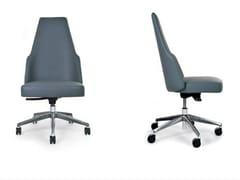 Sedia girevole con schienale alto e ruote MIA OFFICE | Sedia -