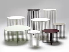 Tavolino rotondo in acciaio ACCURSIO   Tavolino - Accursio