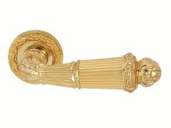 Maniglia color oro con finitura lucida su rosetta 0R6520.000.01 | Maniglia - Clasica