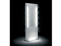 Espositore per saloni di bellezza bifacciale luminoso GLOW ISLAND - Glow Series