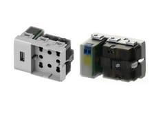 Presa elettricaSIDE UNIKA USB - 4 BOX