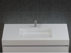 Lavabo singolo in Corian®UNICO | Lavabo in Corian® - REXA DESIGN