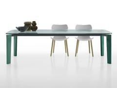 Tavolo rettangolare in vetroOSKAR | Tavolo in vetro - B&B ITALIA