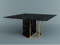 Tavolo da pranzo quadrato PLINTO | Tavolo quadrato - Plinto