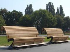 Panchina in legno con schienale TRONO -