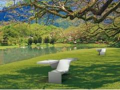 Panchina modulare in pietra ricostruita senza schienaleTWIN   Panchina - METALCO