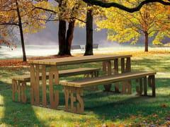 Tavolo da picnic rettangolare in legnoPIC NIC | Tavolo da picnic - METALCO