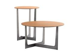 Tavolino rotondo in cuoio ILARY | Tavolino in cuoio - LA COLLEZIONE - Tavoli e sedie