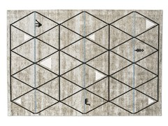 Tappeto rettangolare a motivi geometrici GAVA -