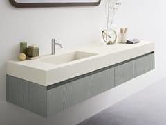Lavabo in Corian® con pianoMOODE | Lavabo con piano - REXA DESIGN