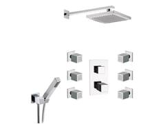 Miscelatore per doccia in ottone cromato con soffione OXY | Miscelatore per doccia con soffione - Oxy