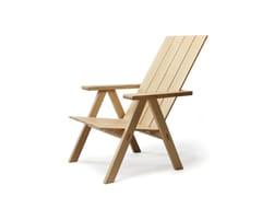 Sedia a sdraio in rovere con braccioli ARKIPELAGO KVTT3 - Arkipelago