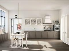 Cucina componibile lineare in abete con maniglieVIVIAN - CREO KITCHENS BY LUBE