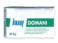 Knauf Italia, DOMANI Massetto biocompatibile ad asciugatura rapida