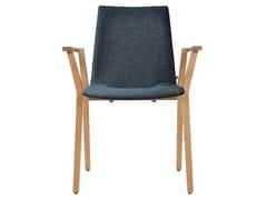 Sedia imbottita impilabile in tessuto con braccioli ALEC PLUS | Sedia con braccioli - Alec