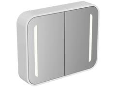 Specchio con contenitore con illuminazione integrata per bagno DEA - T7855 - Dea