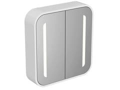 Specchio con contenitore con illuminazione integrata per bagno DEA - T7854 - Dea