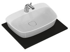 Lavabo da appoggio singolo in ceramica DEA - T0445 - Dea