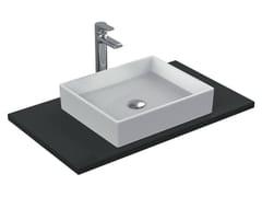 Lavabo da appoggio rettangolare singolo in ceramica STRADA - K0776 - Strada