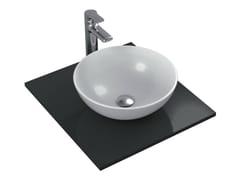 Lavabo da appoggio rotondo singolo in ceramica STRADA - K0795 - Strada