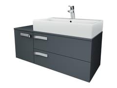 Mobile lavabo singolo sospeso con cassetti STRADA - K2459 - Strada