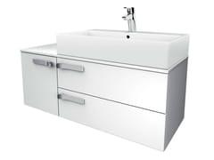 Mobile lavabo singolo sospeso con cassetti STRADA - K2728 - Strada
