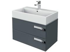 Mobile lavabo singolo sospeso con cassetti STRADA - K2455 - Strada