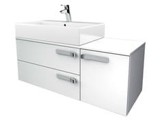 Mobile lavabo singolo sospeso con cassetti STRADA - K2727 - Strada