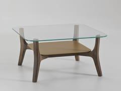 Tavolino quadrato in vetro con portariviste SAVILE ROW | Tavolino quadrato - Savile Row