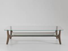 Tavolino rettangolare in vetro con portariviste SAVILE ROW | Tavolino rettangolare - Savile Row
