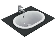 Lavabo da incasso soprapiano ovale CONNECT 55 x 38 cm - E5047 - Connect