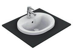 Lavabo da incasso soprapiano ovale CONNECT 48 x 40 cm - E5038 - Connect