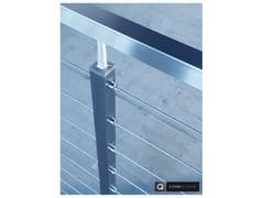 Parapetto in acciaio inoxSQUARE LINE 40X40 | Parapetto in acciaio inox - Q-RAILING ITALIA