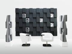 Pannello divisorio / portariviste per ufficioWINDOW - ABSTRACTA