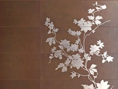 Pavimento/rivestimento in ceramica a pasta bianca CONCRETA -