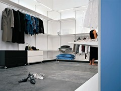 Cabina armadio componibile in metallo DOT WARDROBE - KRISTALIA