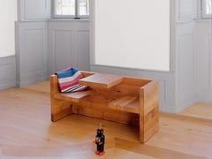 Panca in legno massello con schienaleTAFEL CHILDREN - E15