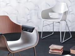 Sedia a slitta in acciaio e legno SHOWTIME | Sedia ristorante in acciaio e legno - Showtime