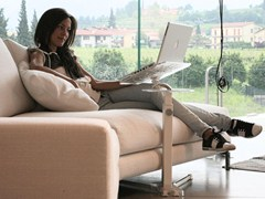 Supporto per notebook LOUNGE-BOOK CRYSTAL WHITE - LOUNGE-TEK