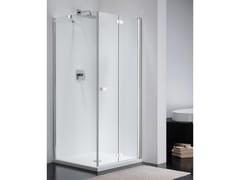 Provex Industrie, COMBI FREE CE + CW1 Box doccia in vetro con porta a soffietto