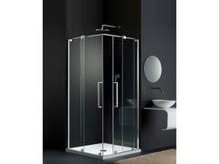 Provex Industrie, S-LITE SK Box doccia in vetro con porta scorrevole