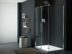 Provex Industrie, S-LITE SN + SW Box doccia in vetro con porta scorrevole