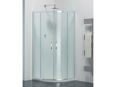 Provex Industrie, ARCO AR Box doccia semicircolare in vetro con porta scorrevole