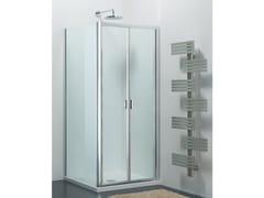 Provex Industrie, ARCO SF + WD Box doccia in vetro con porta a soffietto