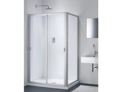 Provex Industrie, CLASSIC NC + WC Box doccia in vetro con porta scorrevole