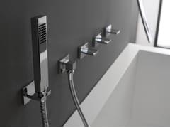 Set vasca a 5 fori a muro con doccetta LUNA | Set vasca a muro - Luna