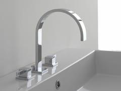 Rubinetto per lavabo a 3 fori da piano QUBIC | Rubinetto per lavabo a 3 fori - Qubic